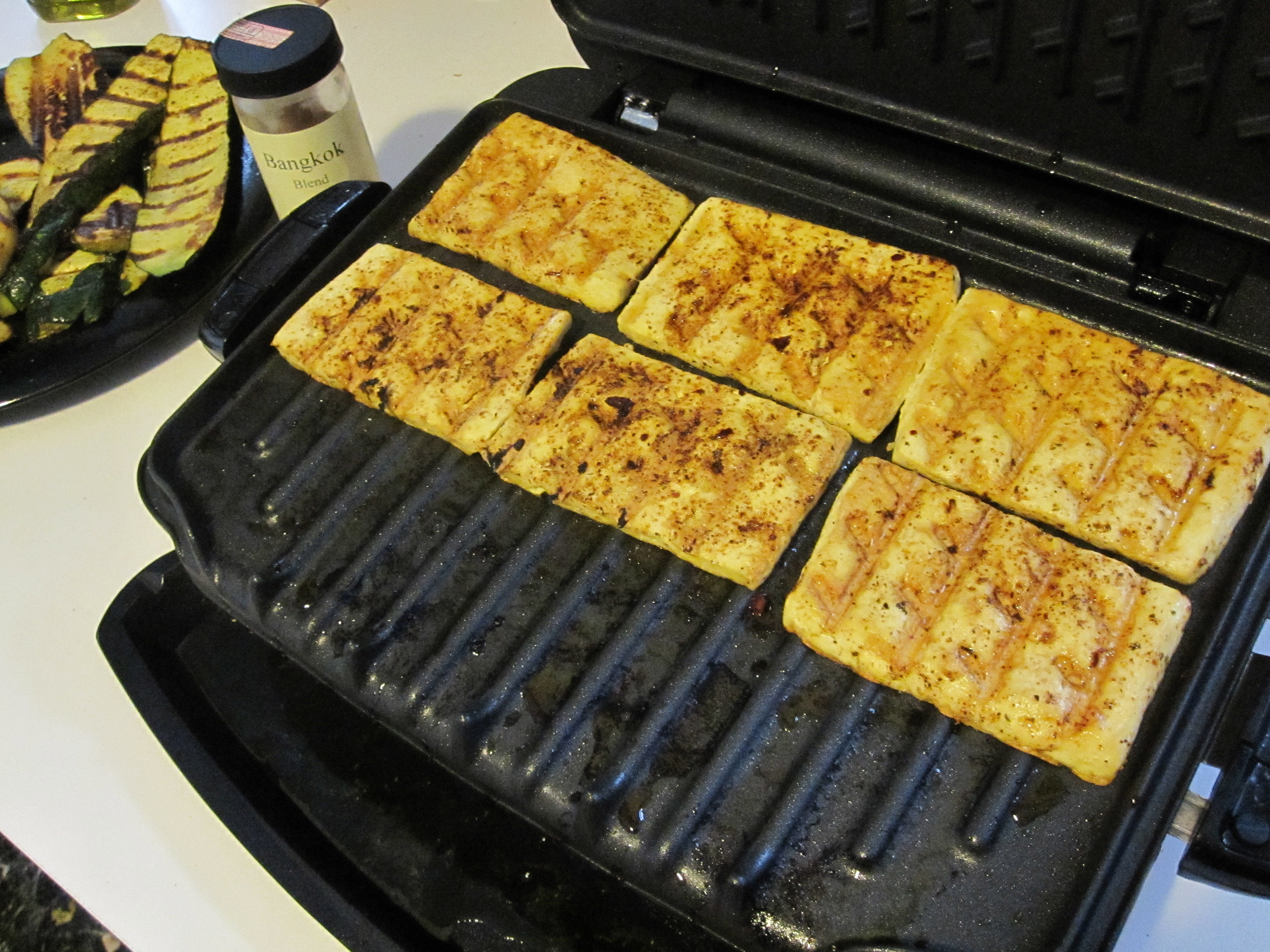 Test Driving My New George Foreman Grill Grilling Vegan Style Killer Bunnies Inc