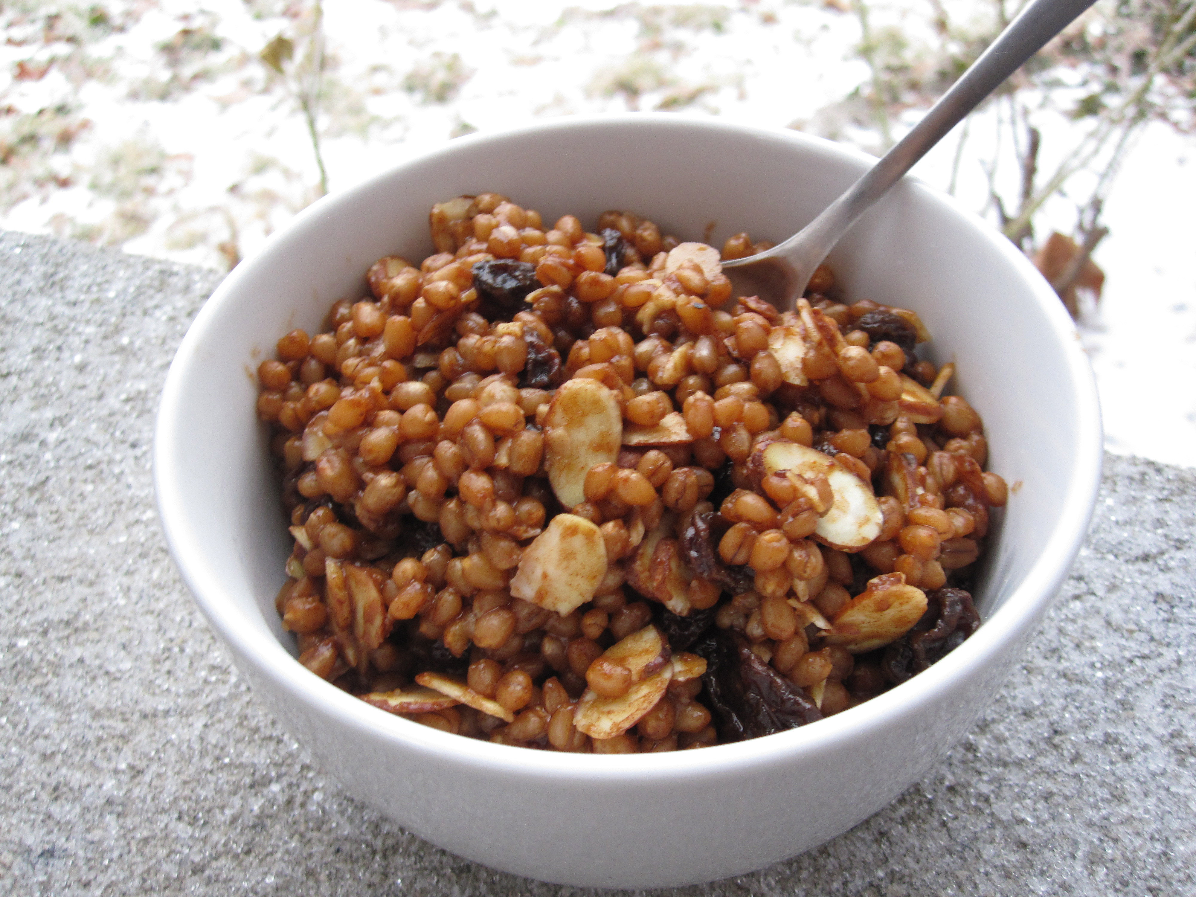 Vegan Wheatberries Breakfast Style