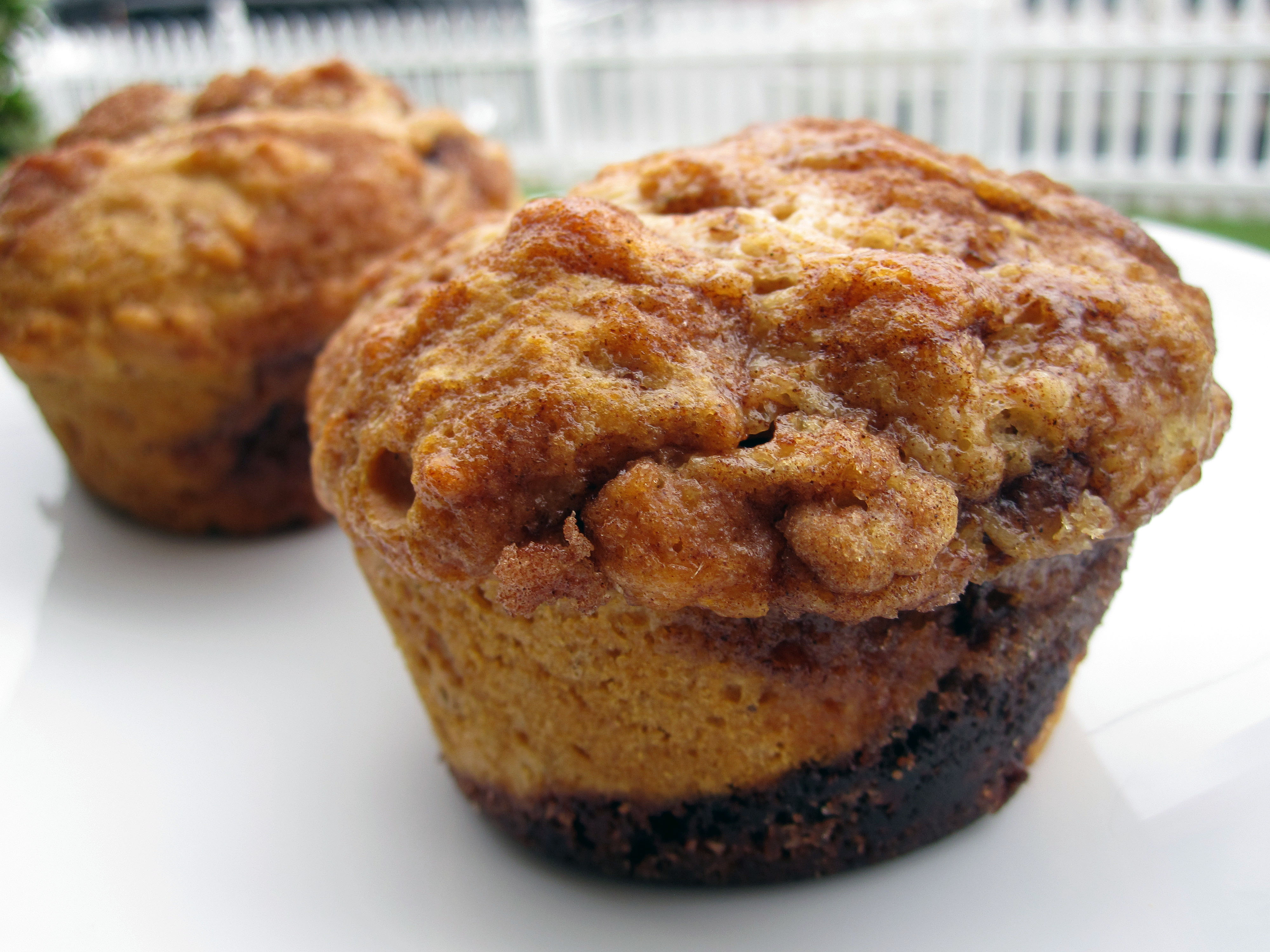 muffins middle of the cinnamon roll muffins easy cinnamon roll muffins ...