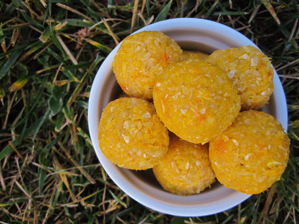 orange cashew coconut balls