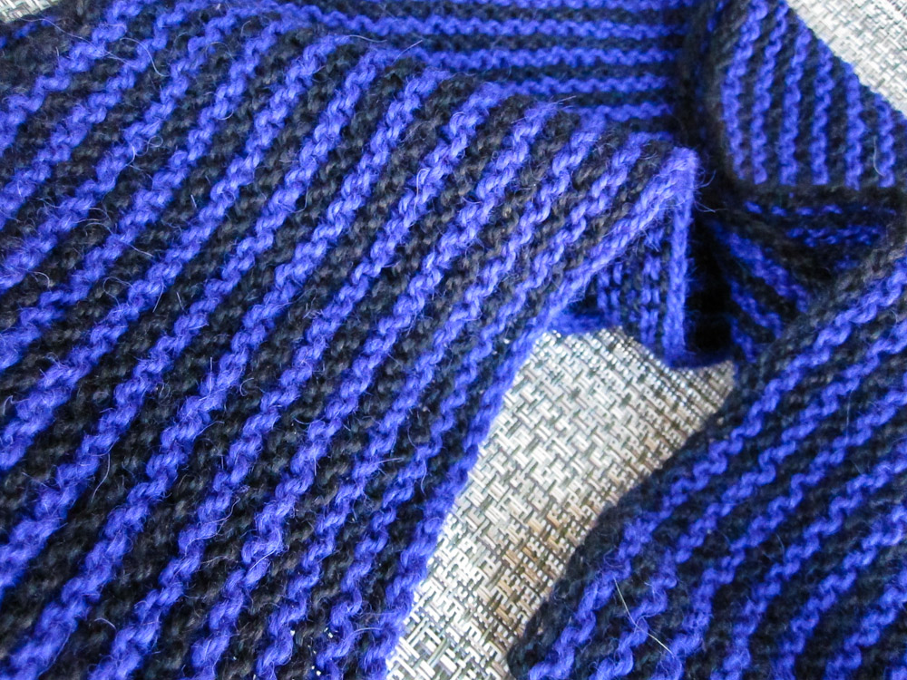 Vertical Striped Scarf Knitting Pattern : Vertical Striped Knit Scarf with Blue Sky Alpacas Sport Weight Yarn Killer ...