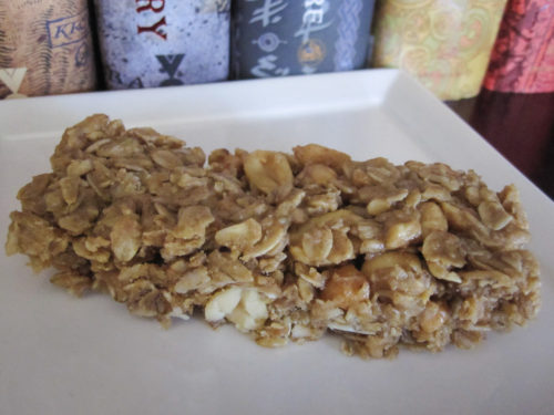 peanut butter and agave oat bars