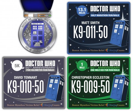 Doctor Who 50th Anniversary Virtual fun runwalk medal