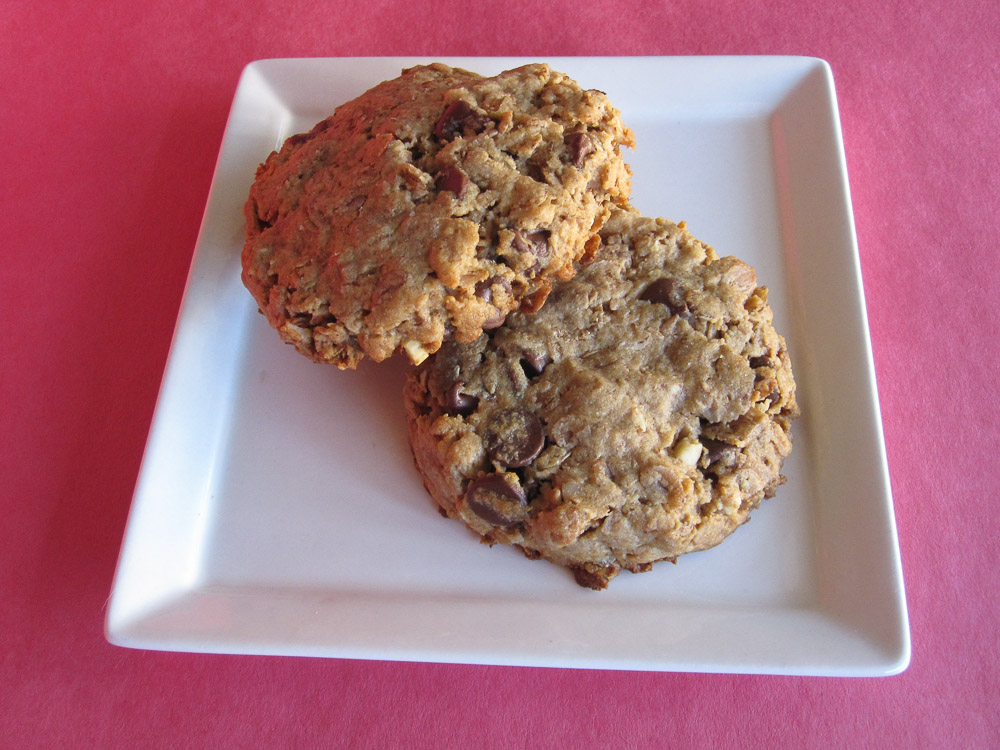 Peanut Butter Chocolate Rye Flakes Cookies