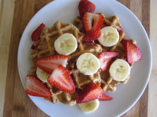 Strawberry Banana Waffles-2