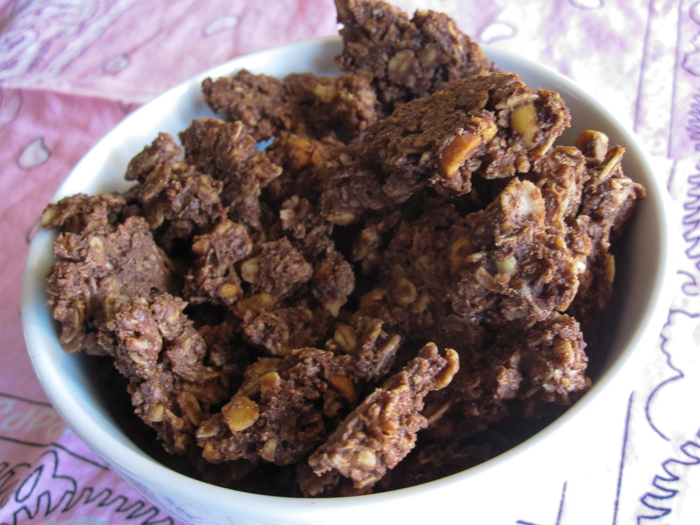 Chocolate Peanut Butter Granola-3
