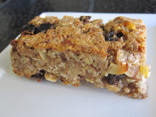 Chewy Banana Coconut Granola Bars