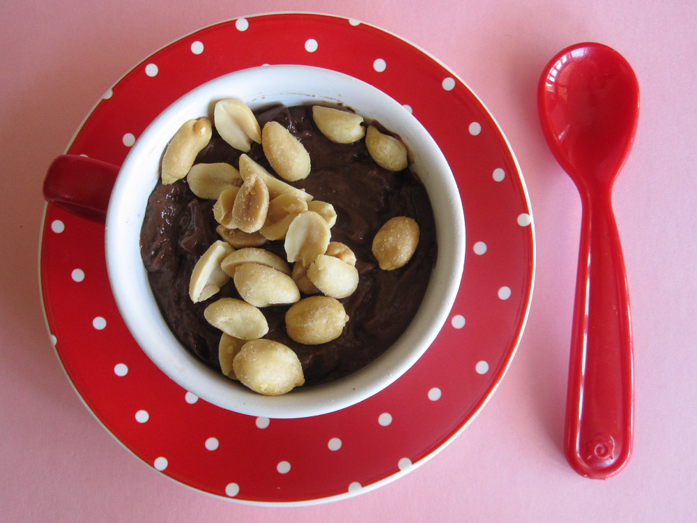Vegan Chocolate-Peanut Butter Pudding Recipe #SundaySupper