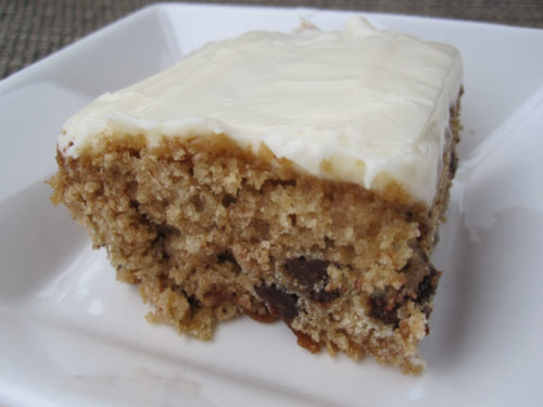 oatmeal chocolate chip cake with cream cheese frosting-2
