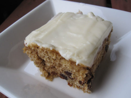 oatmeal chocolate chip cake with cream cheese frosting-3