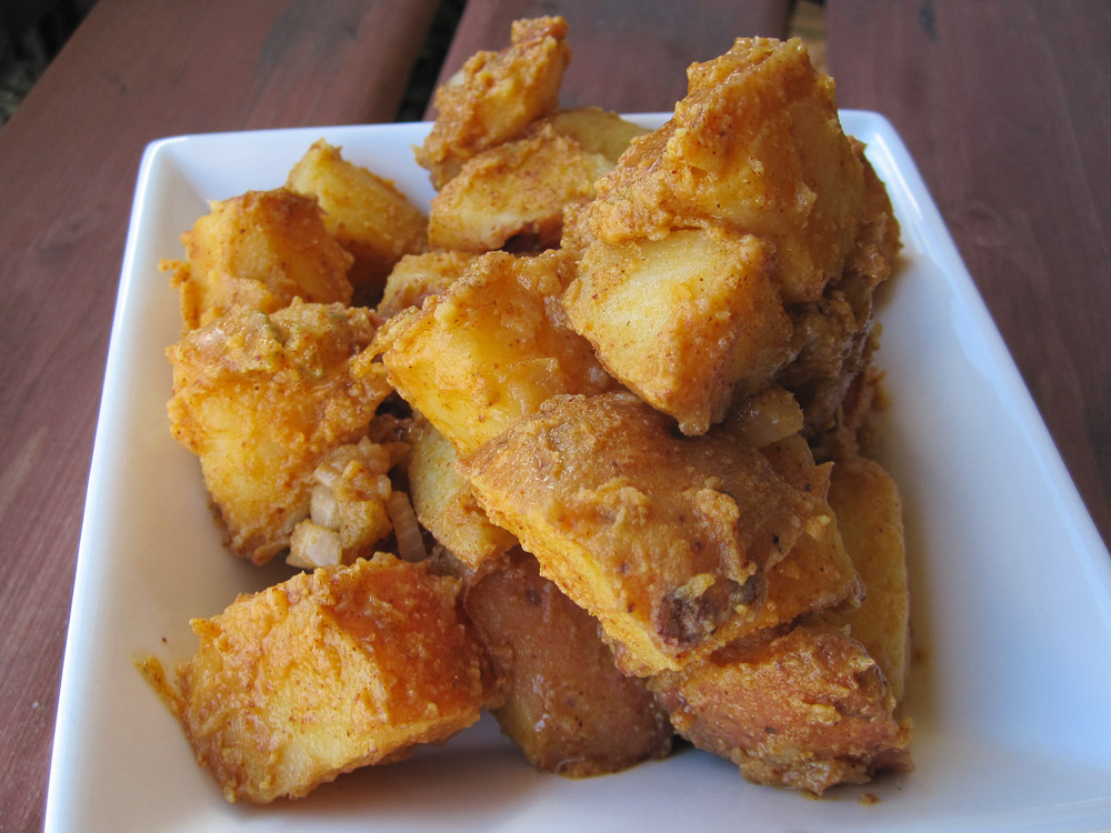 Spicy Vegan Potato Salad Recipe #SundaySupper