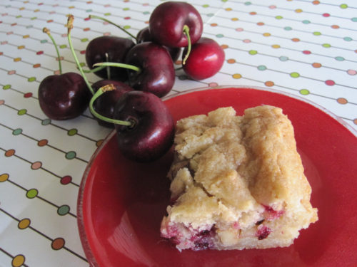 Coconut Cherry Bars Recipe-2