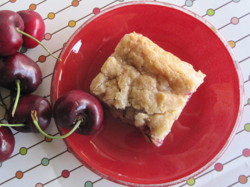 Coconut Cherry Bars Recipe-3