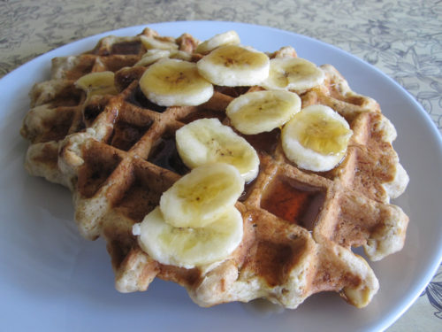 Maple Peanut Banana Bread Waffles-2