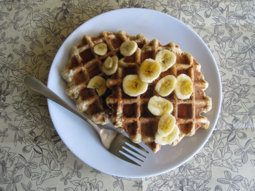 Maple Peanut Banana Bread Waffles-3