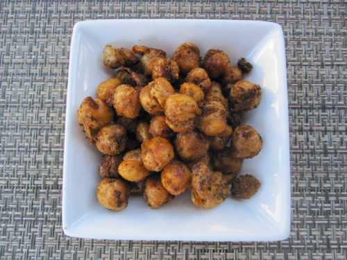 Roasted Taco-flavored Chickpeas