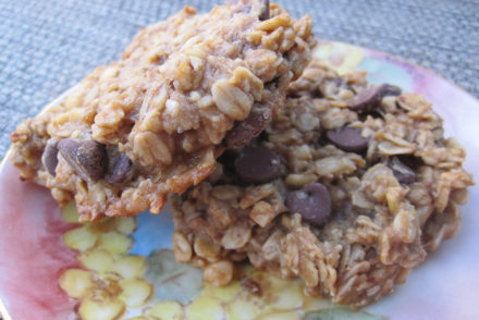 Gluten-Free Vegan Banana Peanut Butter Chocolate Chip Cookies-2