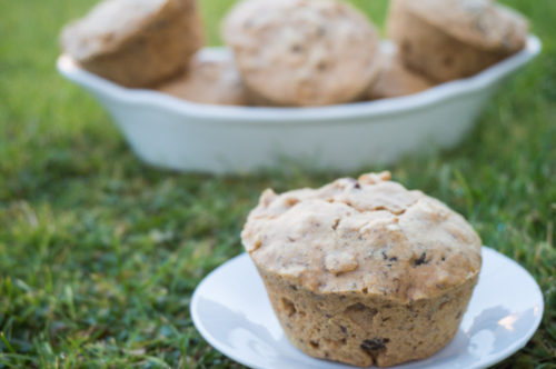 Vegan Oatmeal Raisin Muffins-3