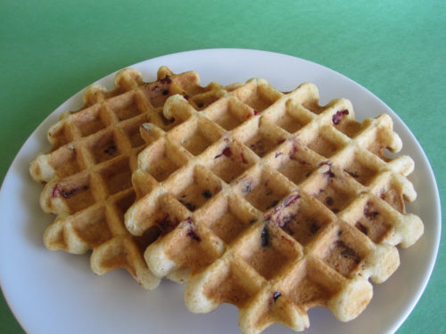 Cranberry Eggnog Waffles Recipe-3