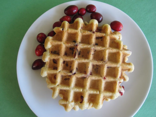 Cranberry Eggnog Waffles Recipe