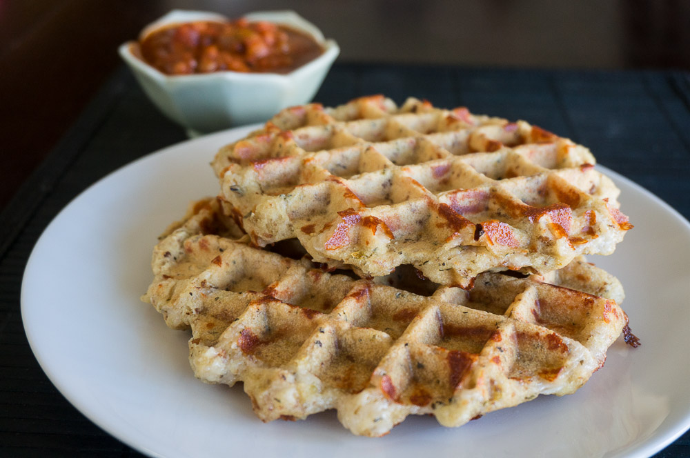 Vegan Pizza Waffles Recipe #SundaySupper