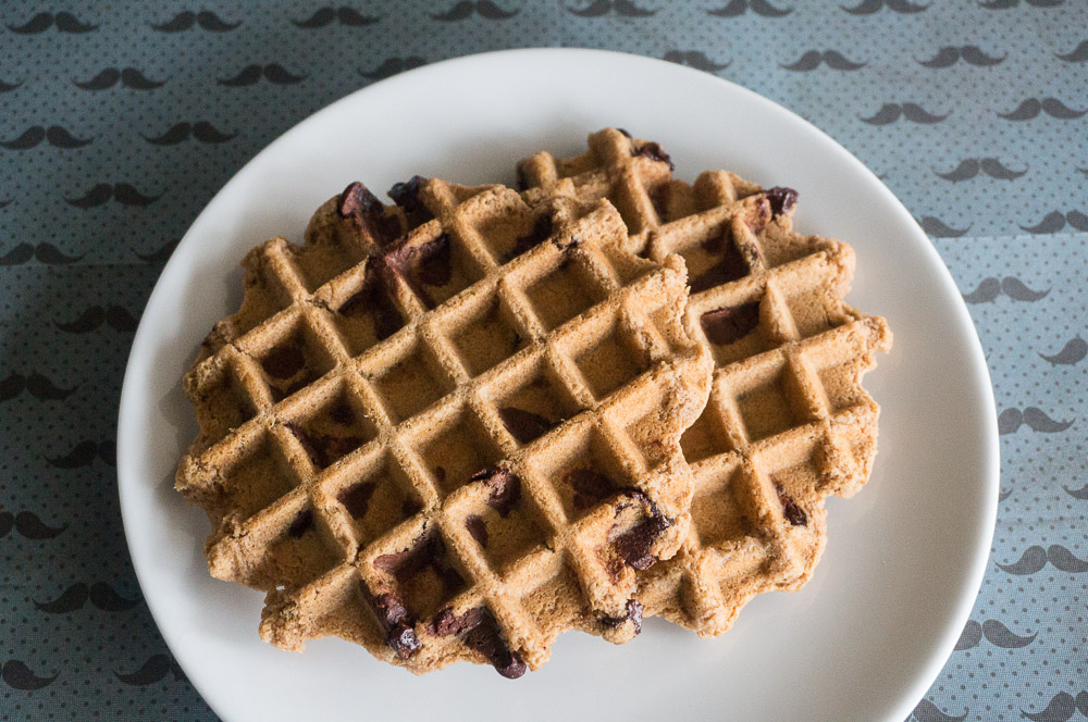 Peanut Butter Chocolate Chip Waffles-2
