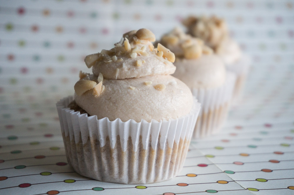 Banana Nut Butter Cupcakes
