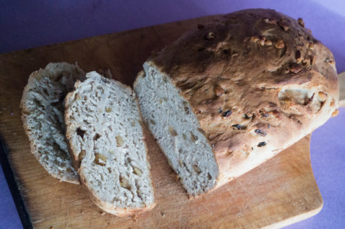 Whole Wheat Agave Walnut Bread-3