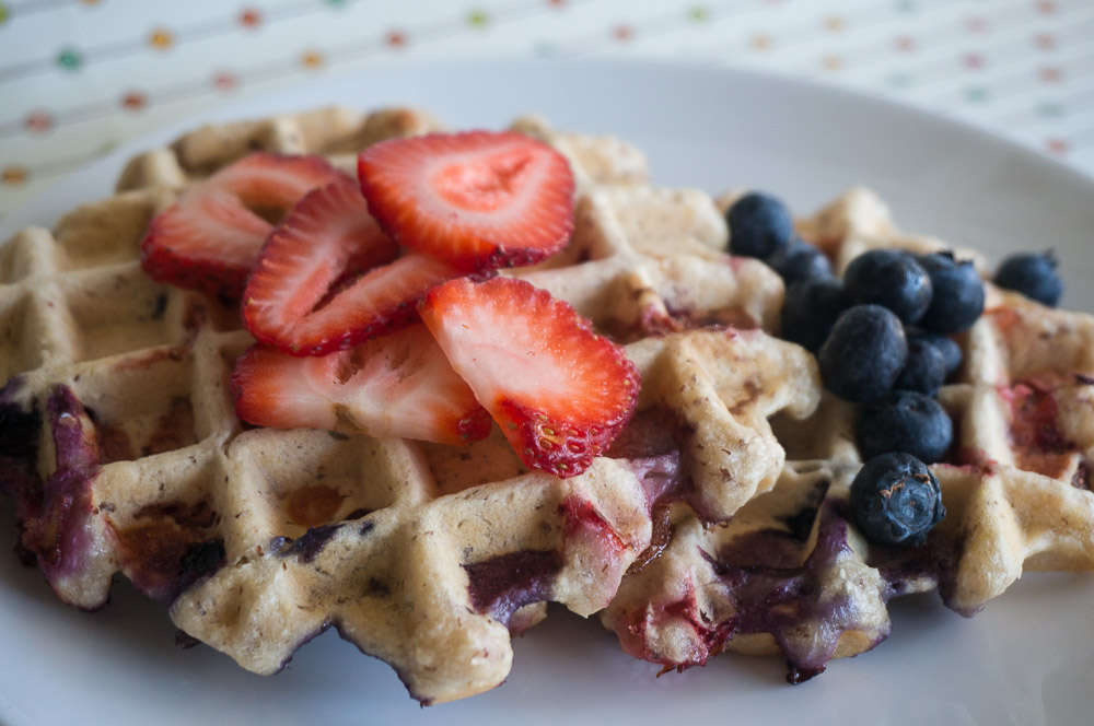 Mixed Berry Waffles-4