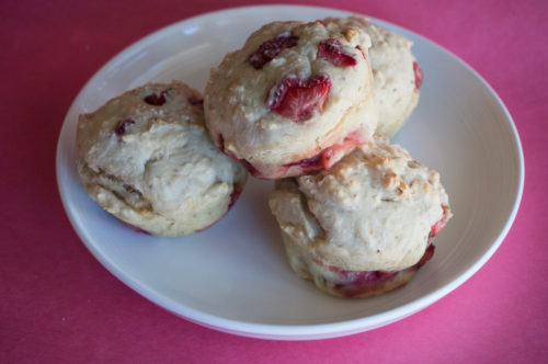 Strawberry Banana Oat Muffins-3