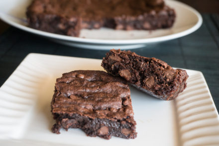 Very Fudgy Chocolate Chip Brownies-3