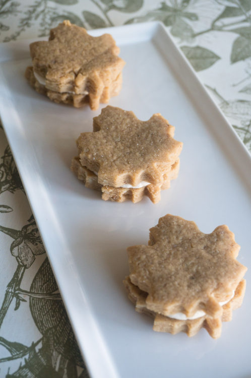 Maple Walnut Sandwich Cookies