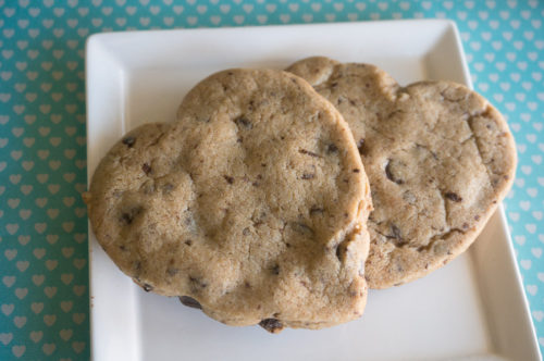 Vegan Double Chocolate Chip Heart-Shaped Cookies-2