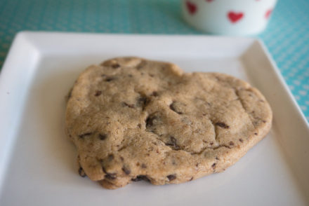 Vegan Double Chocolate Chip Heart-Shaped Cookies
