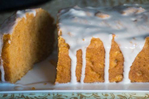 Spiced Pumpkin Bread with Maple Vanilla Icing-3