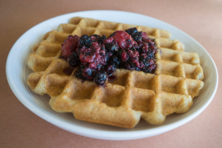 Vegan Waffles with Mixed Berry Compote-2