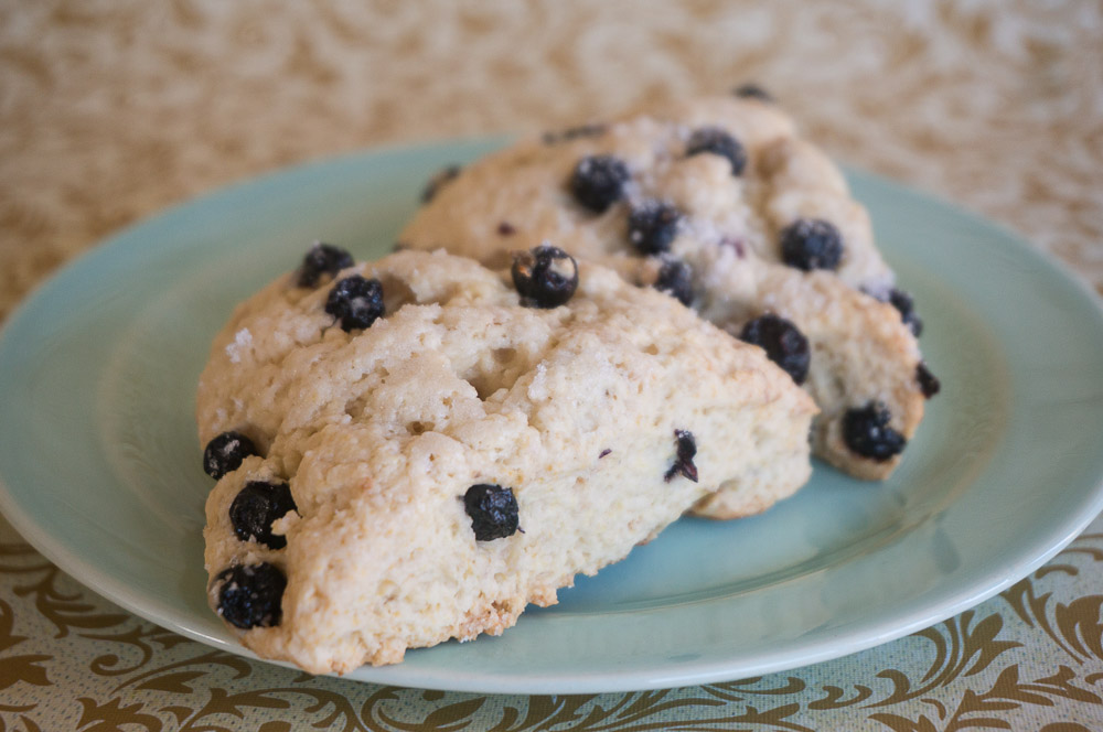 Lemon Blueberry Scones Recipe for #SundaySupper