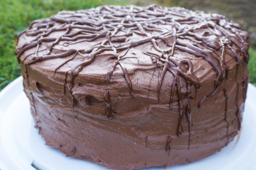 Chocolate Cake with Chocolate Buttercream Frosting-3