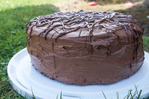 Chocolate Cake with Chocolate Buttercream Frosting-4
