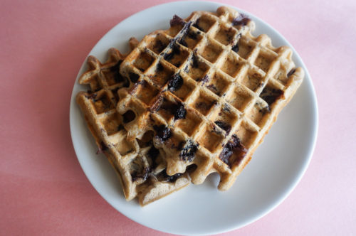 Blueberry Oatmeal Waffles-2