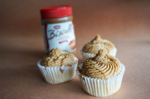 cupcakes with Speculoos Cookie Butter Frosting