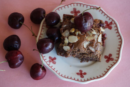 Cherry Almond Brownies-3