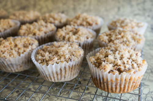 Banana Walnut Crumble Muffins
