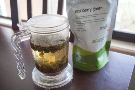 adagio raspberry green tea