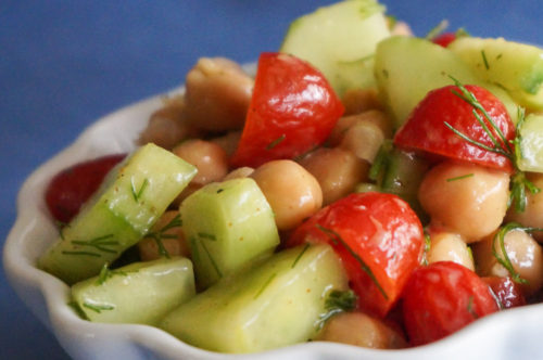 Fresh Chickpea Salad Recipe with Lemon and Dill-2