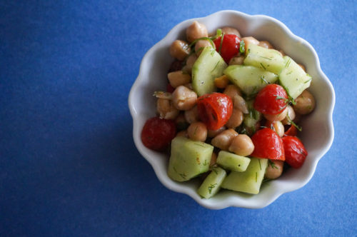 Fresh Chickpea Salad Recipe with Lemon and Dill-3