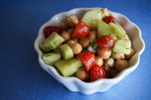 Fresh Chickpea Salad Recipe with Lemon and Dill-4