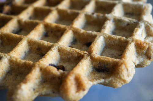 Chocolate Chip Banana Bread Waffles-3
